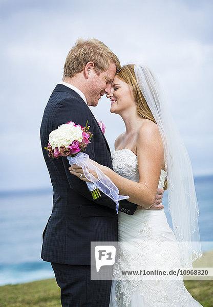 Wedding Couple  Happy romantic bride and groom