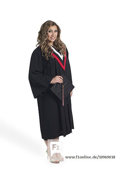 'Young graduating woman; Edmonton  Alberta  Canada'