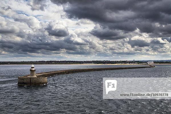 'Tyne South Pier lighthouse; South Shields  Tyne and Wear  England'