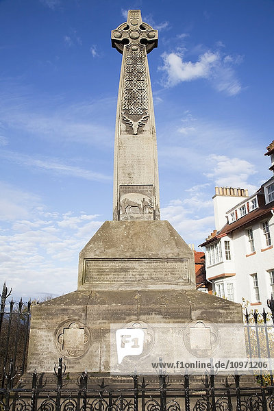'A Large Memorial Near Edinburgh Castle; Edinburgh  Scotland'