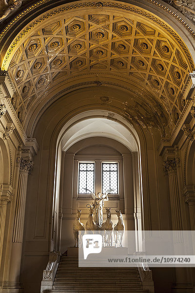 'Beautiful sculpture of winged victory with horses inside the Il Vittoriano monument; Rome  Italy' 'Beautiful sculpture of winged victory with horses inside the Il Vittoriano monument; Rome, Italy'