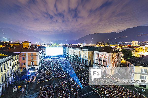 'Film festival  Piazza Grande; Locarno  Ticino  Switzerland'