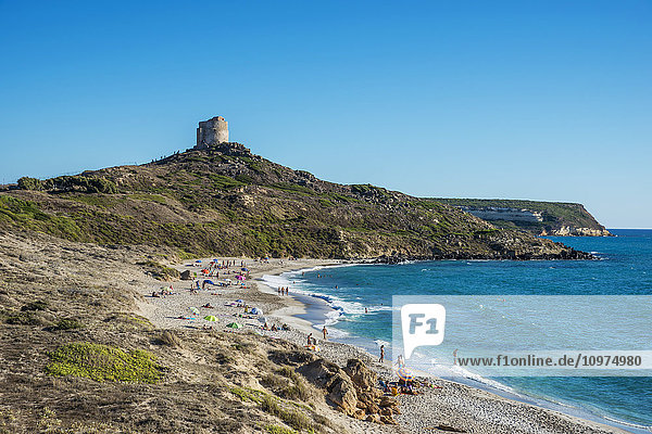 'San Giovanni tower and beach; Tharros  Sardinia  Italy'