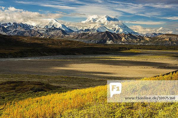 Scenic view of Denali and the Alaska Range  Denali National Park and Preserve  Interior Alaska