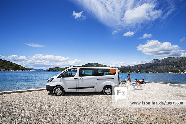 'A group stops for an afternoon at the beach; Slano  Croatia'