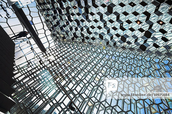 'The unique designs of the Harpa concert hall and conference centre is free and open for all to experience and view; Reykjavik  Iceland'