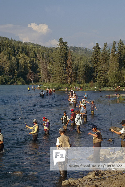 Spinfishing Russian River Kenai Peninsula Alaska Summer