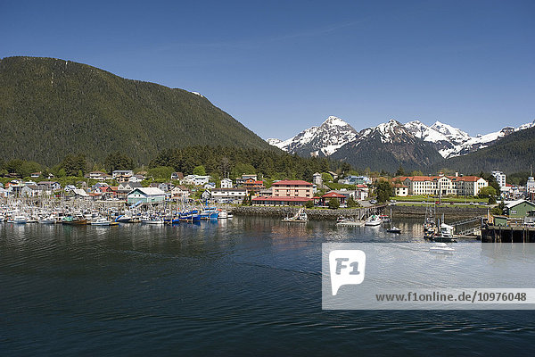 View Of The Sitka Town Waterfront During Summer In Alaska