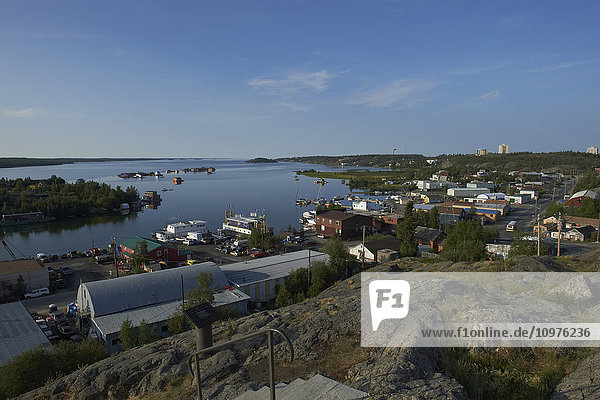 'View of Jolliffe Island from Bush Pilot's Monument lookout in Old Town; Yellowknife  Northwest Territories  Canada'