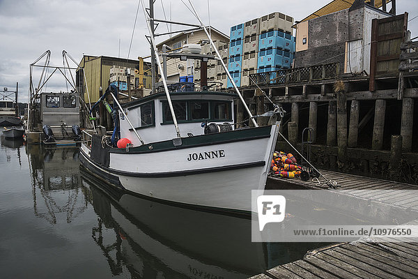 'Fishing boats dock at Bay Center on the Washington Coast; Bay Center  Washington  United States of America'