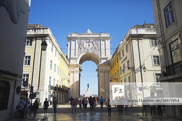 'Entrance of Praca Do Comercio; Lisbon  Portugal'