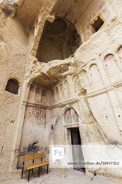 'Manmade cave dwellings; Goreme  Cappadocia  Turkey' 'Manmade cave dwellings; Goreme, Cappadocia, Turkey'