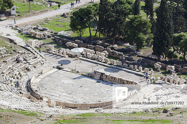 'Tourists at a ruins site; Athens  Greece' 'Tourists at a ruins site; Athens, Greece'