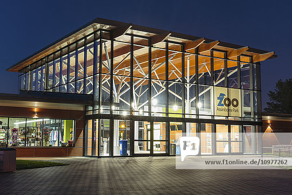 'Entrance to zoo in Assiniboine Park; Winnipeg  Manitoba  Canada'
