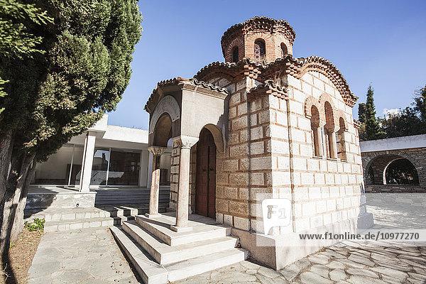 'Small church building; Thessaloniki  Greece' 'Small church building; Thessaloniki, Greece'