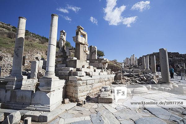 'Ruins of the memmius monument; Ephesus  Izmir  Turkey'