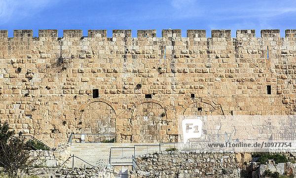 'Hulda gates and excavations; Jerusalem  Israel' 'Hulda gates and excavations; Jerusalem, Israel'