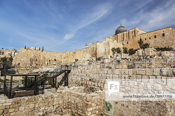 'Northern part of the City of David  also known as the Ophel and is a narrow promontory beyond the Southern edge of Jerusalem's Temple Mount  Old City and Temple Mount; Jerusalem  Israel'