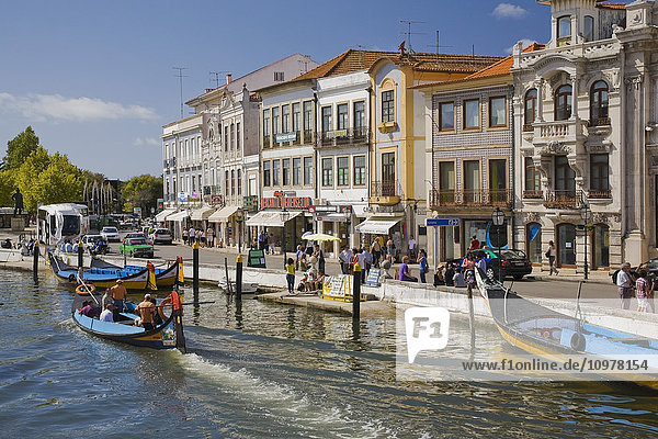 Traditional Moliceiros Boats On The Canal At Aveiro  Portugal  Europe
