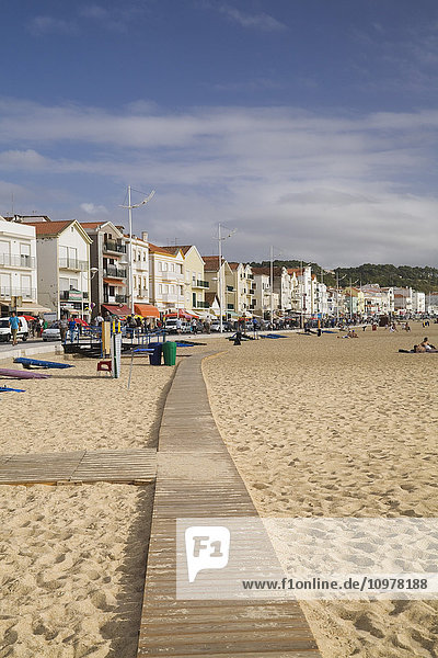 The Boardwalk At Navare Beach  Portugal  Europe