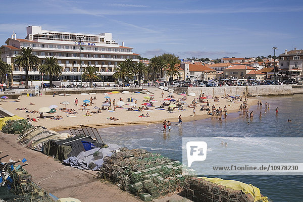 Commercial Fishing Wharf And Beach At Cascais  Portugal  Europe