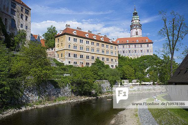 'Cesky Krumlov is a beautiful little medieval city in the South Bohemian region of Czech Republic; Cesky Krumlov  Czech Republic'