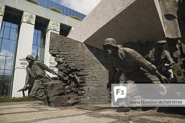 'Monument Commemorating The Polish Heroes Of The Warsaw Uprising Of August 1944; Warsaw  Poland'