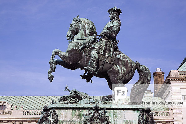 'Equestrian Statue At The Hofburg Palace Complex; Vienna  Austria'