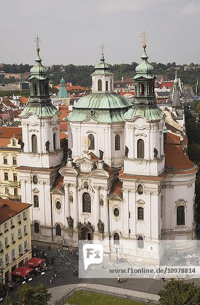 'Baroque Style Church Of Saint Nicholas In The Old Town Square; Prague  Czech Republic'