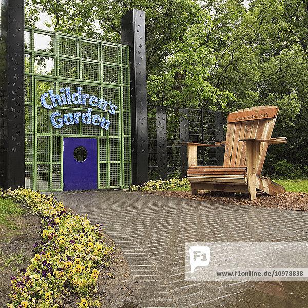 'Entrance to Children's Garden  Assiniboine Park; Winnipeg  Manitoba  Canada'