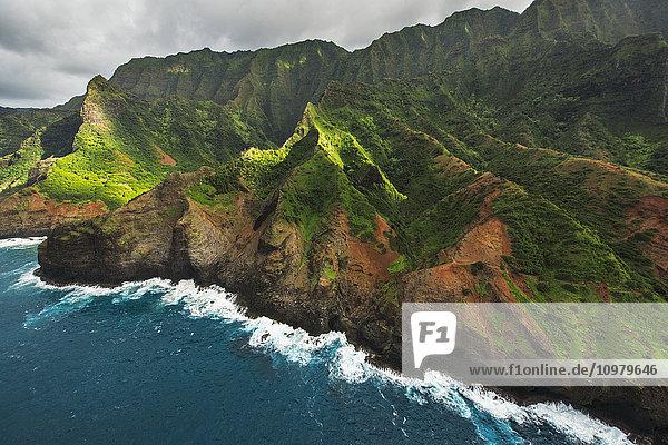 'View of the Na Pali Coast; Kauai  Hawaii  United States of America'