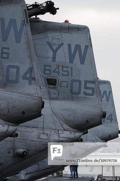 'Planes on the USS Pelelieu (LHA-5); Hawaii  United States of America'