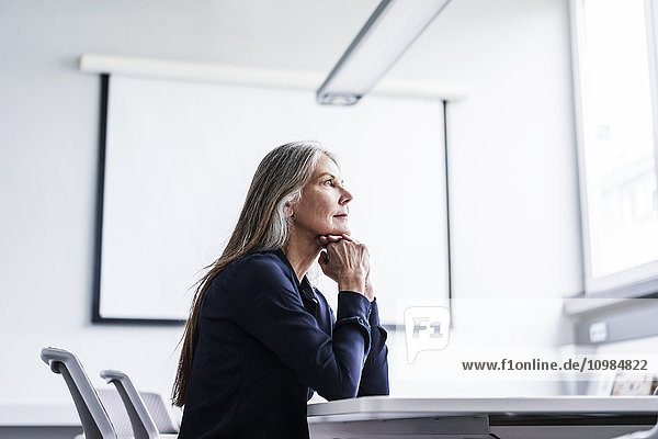 Senior businesswoman in conference room