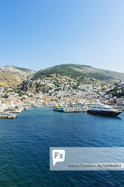 Griechenland  Hydra  Blick auf den Hafen