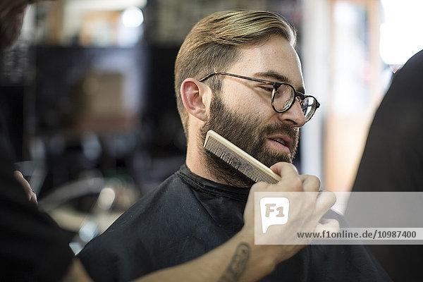 Barbierkämme Bart des Kunden