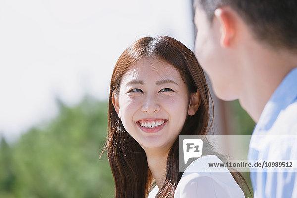 Young Japanese couple portrait