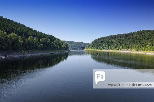 Storage Lake of the Oker Dam  Harz Mountains  Harz  Lower Saxony  Germany