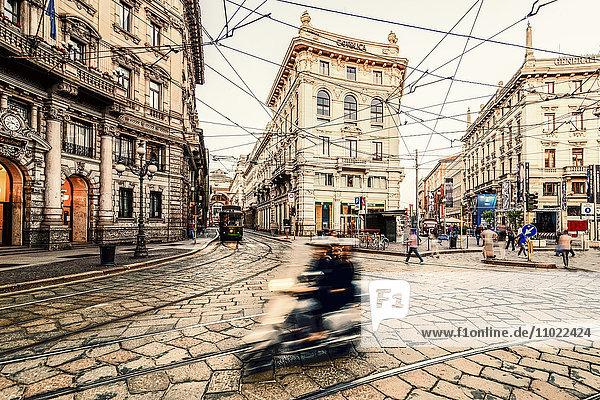 Italien  Mailand  Blick auf die Piazza Cordusio