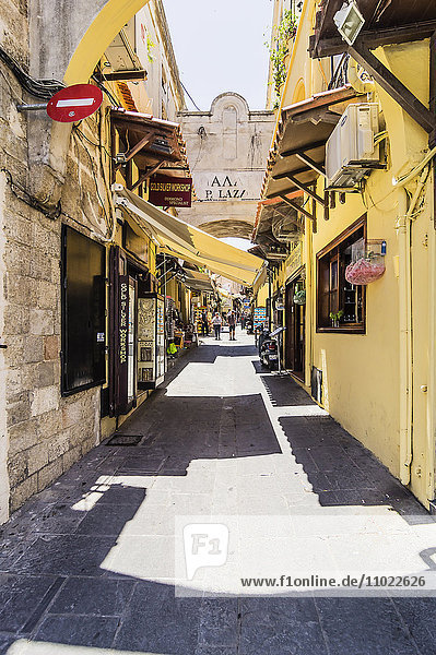 Greece  Rhodes  Old town  alley