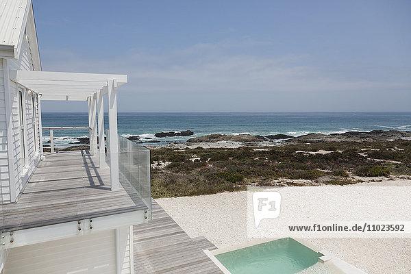 Beach house with sunny ocean view