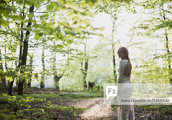 Beautiful bride in forest Beautiful bride in forest