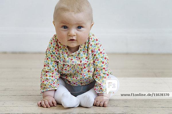 Sweden  Stockholm  portrait of baby girl