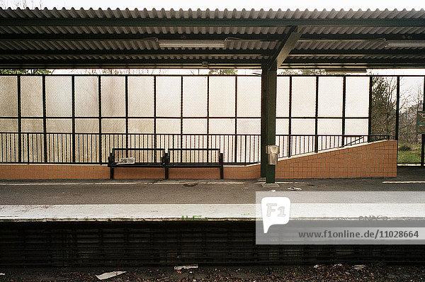 An Empty Platform.