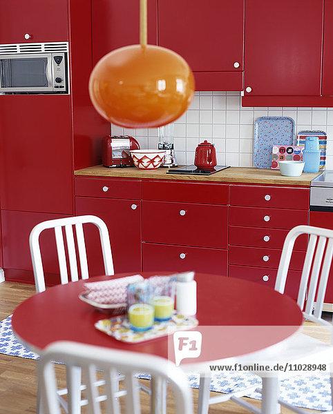 Kitchen in Red. Kitchen in Red.