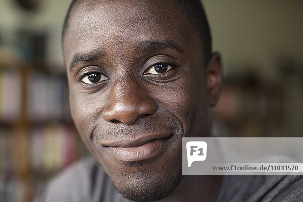 Portrait of smiling young man