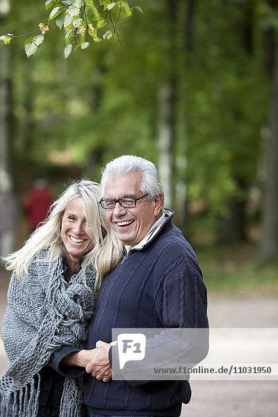 Smiling senior couple  Delsjon  Gothenburg  Sweden