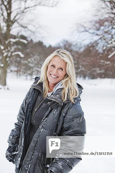Mature woman smiling  Gothenburg  Sweden