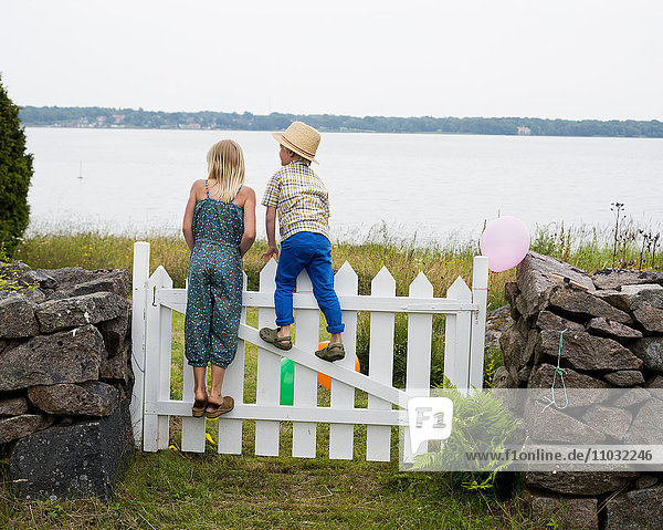 Children at a gate