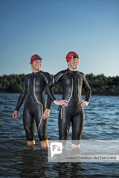 Women in wetsuit in sea  Sweden
