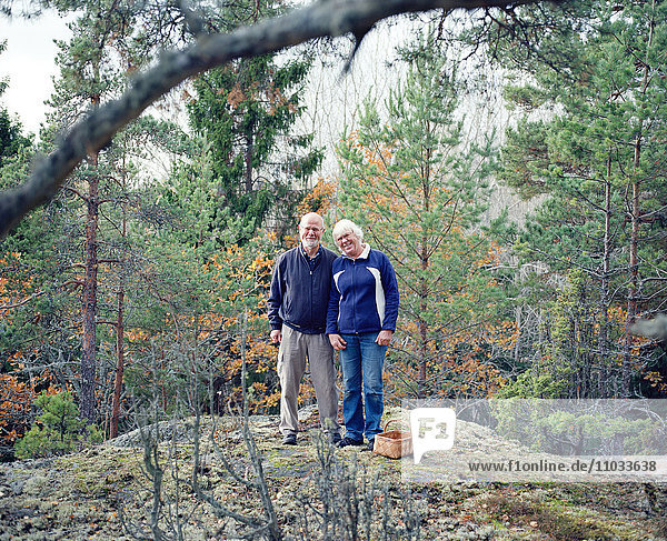 Senior couple in forest